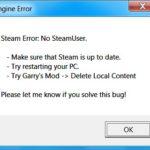 Ошибка — No steam user error, как исправить?