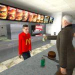 McDonalds карта, нпс и еда