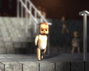 Хоррор кукла ребенок NPC