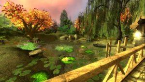 Gm_mill домик у реки в осеннем лесу