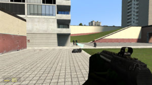 OOH Gun пистолет-пулемет стреляющий бриллиантами из майнкрафта