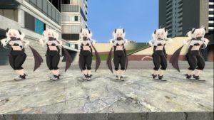 Muffler няшная тяночка с кошачьими ушками и хвостиком
