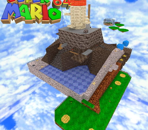 Карта Super Mario 64 - Whomp's Fortress