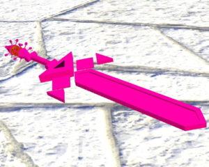 Зеркальный меч в стиле аниме - The Geometry Sword