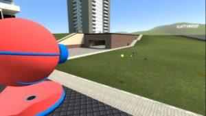 Защитная шарообразная башня стреляющая надувными шарами