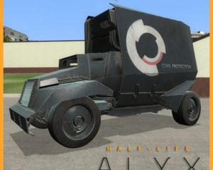 Автомобиль для транспортировки заключенных из Half-Life: Alyx