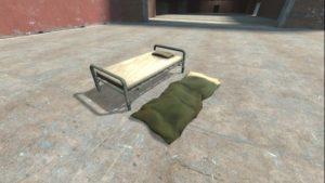 Кровать в качестве точки респавна