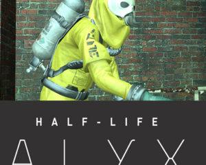 Alyx в защитном комбинезоне