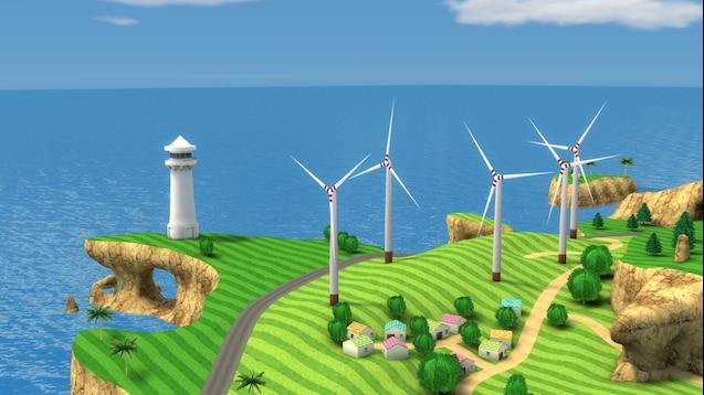 Gm_wuhu мультяшная карта на основе культовых игр Nintendo