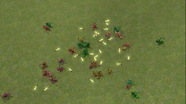 Объединение муравьиных львов в колонию