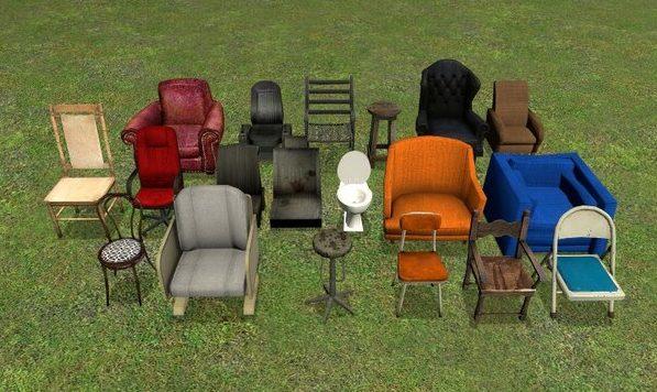 Множество стульев