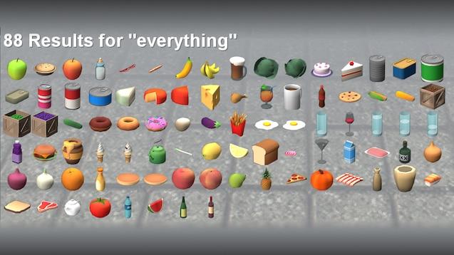 Модельки продуктов питания