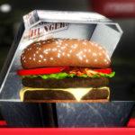 Реалистичный бургер и специальный контейнер для него