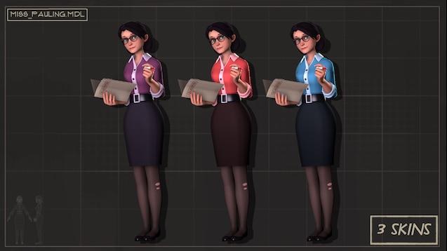 Мисс Полинг из Team Fortress 2
