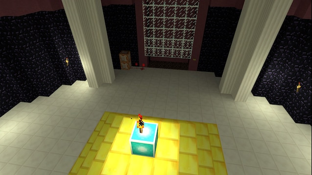 Карта ttt_byperbasedome в стиле Minecraft