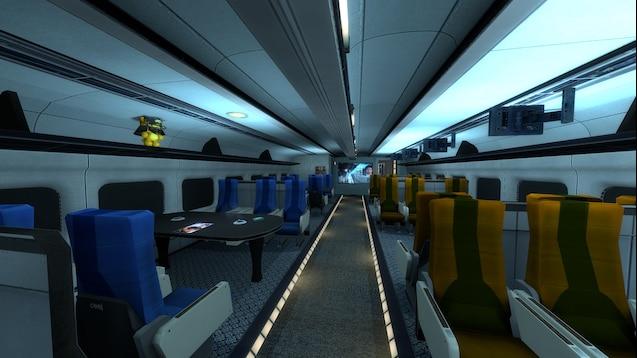 Тоннель со скоростным поездом