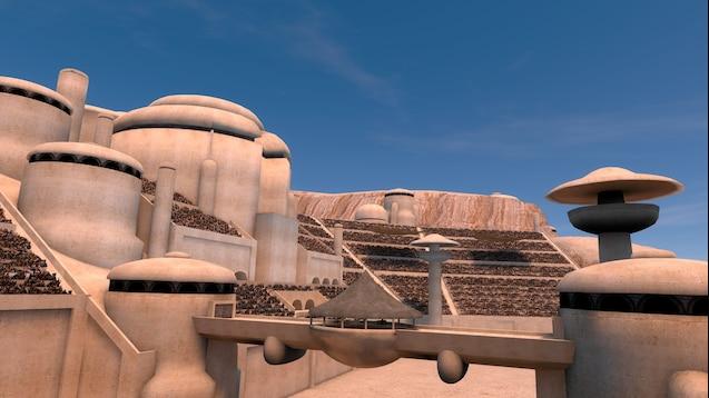 Трасса Mos Espa на Татуине для гонки Boonta Eve Classic из Star Wars