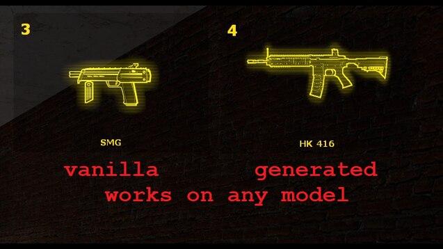 Генератор значков оружия в стиле HL2