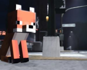 Лиса из Minecraft