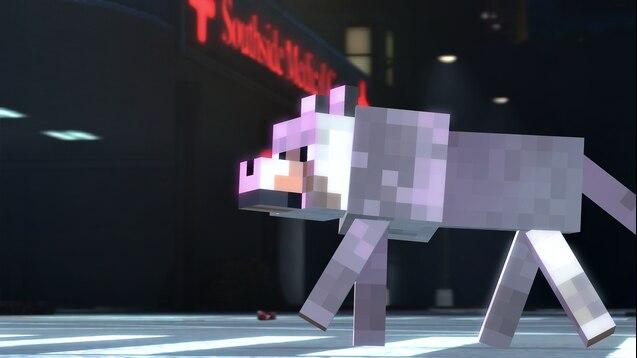 Волк из Minecraft