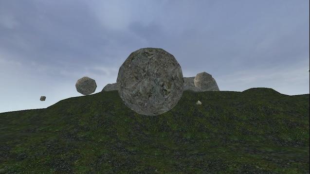 Gm rocks карта с круглыми валунами (ОПАСНО! РАЗДАВИТ!)